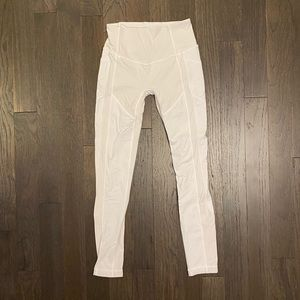 Lululemon White Leggings with Pockets